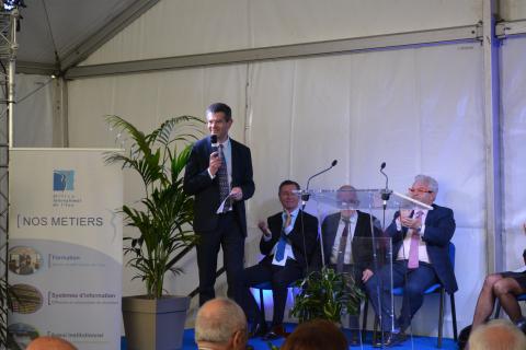 Inauguration des installations de l'OIEau - Eric TARDIEU, Directeur Général de l'OIEau, lors du discours inaugural