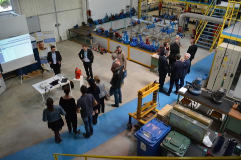 Inauguration des installations de l'OIEau - Atelier/Parcours libre du hall technique du centre de formations